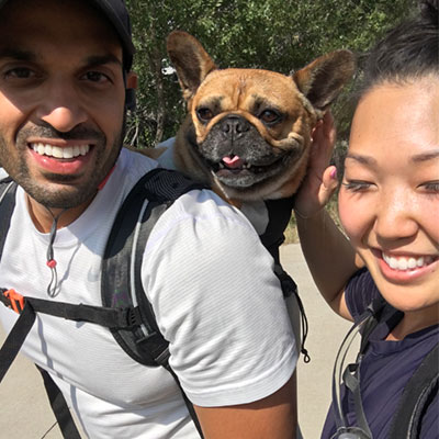 Martha Ha with Boyfriend and Dog | Dentist in Broomfield, CO